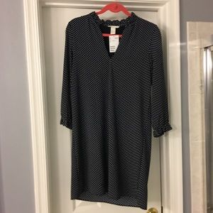 Never worn! H&M dotted lined shift dress M or 6